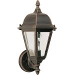 "Westlake Collection 1-Light 15"" Rust Patina Outdoor Wall Light with Clear Glass 1002RP"