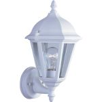 "Westlake Collection 1-Light 15"" White Outdoor Wall Light with Clear Glass 1002WT"