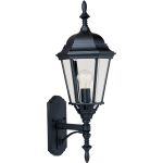 "Westlake Collection 1-Light 24"" Black Outdoor Wall Light with Clear Glass 1003BK"