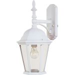 "Westlake Collection 1-Light 19"" White Outdoor Wall Light with Clear Glass 1004WT"