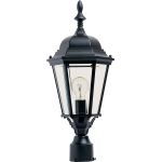 "Westlake Collection 1-Light 22"" Black Outdoor Pier/Post Mount with Clear Glass 1005BK"