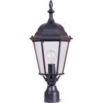 "Westlake Collection 1-Light 22"" Empire Bronze Outdoor Pier/Post Mount with Clear Glass 1005EB"