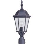 "Westlake Collection 1-Light 22"" Rust Patina Outdoor Pier/Post Mount with Clear Glass 1005RP"