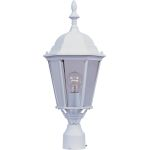 "Westlake Collection 1-Light 22"" White Outdoor Pier/Post Mount with Clear Glass 1005WT"