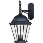 "Westlake Collection 3-Light 22"" Black Outdoor Wall Light with Clear Glass 1008BK"