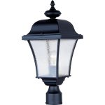 "Senator Collection 1-Light 20"" Black Outdoor Pier/Post Mount with Seedy Glass 1065BK"