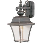 "Senator Collection 1-Light 15"" Rust Patina Outdoor Wall Light with Seedy Glass 1066RP"