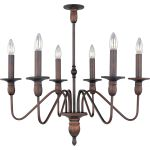 "Towne Collection 6-Light 25"" Oil Rubbed Bronze Chandelier 11034OI"