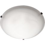 "Malibu Collection 4-Light 20"" Oil Rubbed Bronze Flush Mount with Marble Glass 11060MROI"