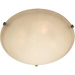 "Malibu Collection 4-Light 20"" Oil Rubbed Bronze Flush Mount with Wilshire Glass 11060WSOI"