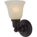"Bel Air Collection 1-Light 6"" Oil Rubbed Bronze Wall Sconce with Soft Vanilla Glass 11086SVOI"
