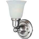 "Bel Air Collection 1-Light 6"" Satin Nickel Wall Sconce with Soft Vanilla Glass 11086SVSN"