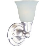 "Bel Air Collection 1-Light 6"" Polished Chrome Wall Sconce with White Glass 11086WTPC"