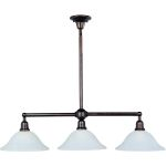 "Bel Air Collection 3-Light 44"" Oil Rubbed Bronze Pendant with Soft Vanilla Glass 11093SVOI"