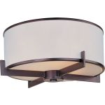"Nexus Collection 3-Light 17"" Oil Rubbed Bronze Flush Mount 12050WTOI"