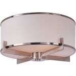 "Nexus Collection 3-Light 17"" Satin Nickel Flush Mount 12050WTSN"