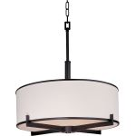"Nexus Collection 4-Light 24"" Oil Rubbed Bronze Foyer Pendant 12053WTOI"