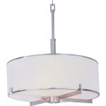 "Nexus Collection 4-Light 24"" Satin Nickel Foyer Pendant 12053WTSN"