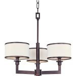 "Nexus Collection 3-Light 19"" Oil Rubbed Bronze Mini Chandelier 12054WTOI"