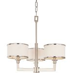 "Nexus Collection 3-Light 19"" Satin Nickel Mini Chandelier 12054WTSN"