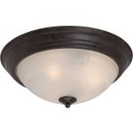 "Outdoor Essentials Collection 1-Light 11"" Acorn Outdoor Ceiling Light with Marble Glass 1940MRAC"