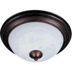 "Outdoor Essentials Collection 1-Light 11"" Oil Rubbed Bronze Outdoor Ceiling Light with Marble Glass 1940MROI"