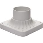 "Outdoor Essentials Collection 6"" White Outdoor Pier Mount 2001WT"