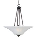 "Aurora Collection 2-Light 24"" Oil Rubbed Bronze Pendant with Frosted Glass 20093FTOI"