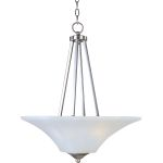 "Aurora Collection 2-Light 24"" Satin Nickel Pendant with Frosted Glass 20093FTSN"