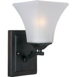 "Aurora Collection 1-Light 5"" Oil Rubbed Bronze Wall Sconce with Frosted Glass 20098FTOI"