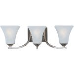 "Aurora Collection 3-Light 21"" Satin Nickel Vanity with Frosted Glass 20100FTSN"