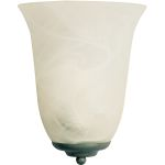 "Essentials Collection 1-Light 10"" Pewter Wall Sconce with Marble Glass 20581MRPE"