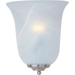 "Essentials Collection 1-Light 10"" Satin Nickel Wall Sconce with Marble Glass 20581MRSN"