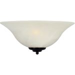 "Essentials Collection 1-Light 13"" Oil Rubbed Bronze Wall Sconce with Marble Glass 20582MROI"