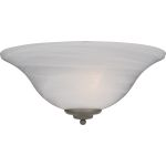 "Essentials Collection 1-Light 13"" Pewter Wall Sconce with Marble Glass 20582MRPE"