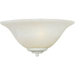 "Essentials Collection 1-Light 13"" Textured White Wall Sconce with Marble Glass 20582MRTW"