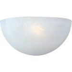 "Essentials Collection 1-Light 10"" White Wall Sconce with Marble Glass 20585MRWT"