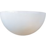 "Essentials Collection 1-Light 10"" White Wall Sconce with White Glass 20585WTWT"