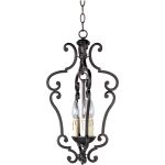 "Richmond Collection 3-Light 21"" Colonial Umber Foyer Pendant 20742CU"