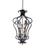 "Richmond Collection 6-Light 39"" Colonial Umber Foyer Pendant 20743CU"