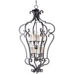 "Richmond Collection 8-Light 49"" Colonial Umber Foyer Pendant 20744CU"