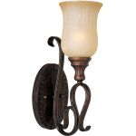 "Sausalito Collection 1-Light 5"" Filbert Wall Sconce with Mocha Cloud Glass 21131MCFL"