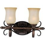 "Sausalito Collection 2-Light 18"" Filbert Vanity with Mocha Cloud Glass 21132MCFL"