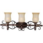 "Sausalito Collection 3-Light 29"" Filbert Vanity with Mocha Cloud Glass 21133MCFL"