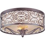 "Mondrian Collection 2-Light 14"" Umber Bronze Flush Mount 21151WHUB"
