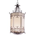 "Mondrian Collection 6-Light 44"" Umber Bronze Foyer Pendant 21158WHUB"