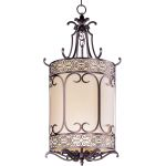 "Mondrian Collection 6-Light 49"" Umber Bronze Foyer Pendant 21159WHUB"