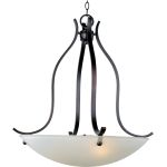 "Contour Collection 3-Light 29"" Oil Rubbed Bronze Pendant with Frosted Glass 21263FTOI"