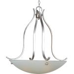 "Contour Collection 3-Light 29"" Satin Nickel Pendant with Frosted Glass 21263FTSN"