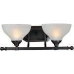 "Contour Collection 2-Light 18"" Oil Rubbed Bronze Vanity with Frosted Glass 21272FTOI"